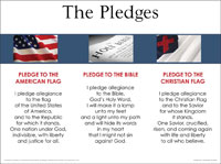 photograph relating to Pledge to the Bible Printable named 3-within-1: Pledges Of Allegiance, Christian Flag, Bible - wall chart- LAMINATED - 19 1/2\