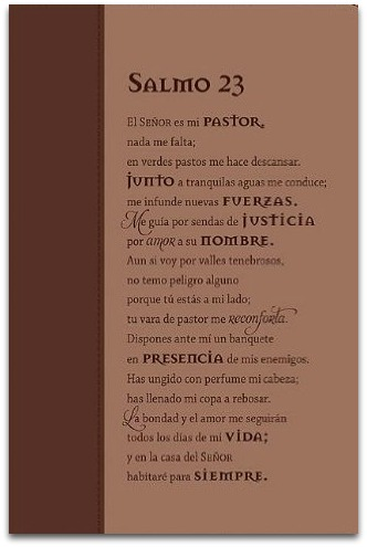 book bible cover salmo 23 mi pastor my shepherd fabricada en