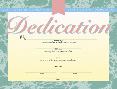 graphic regarding Free Printable Baby Dedication Certificates referred to as Kid perseverance certification