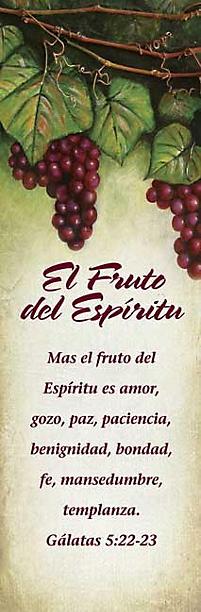 Marcadores De Libros El Fruto Del Espiritu Fruits Of The Spirit Citas Biblicas De La Rvr 1960 Paq De 25 Spanish