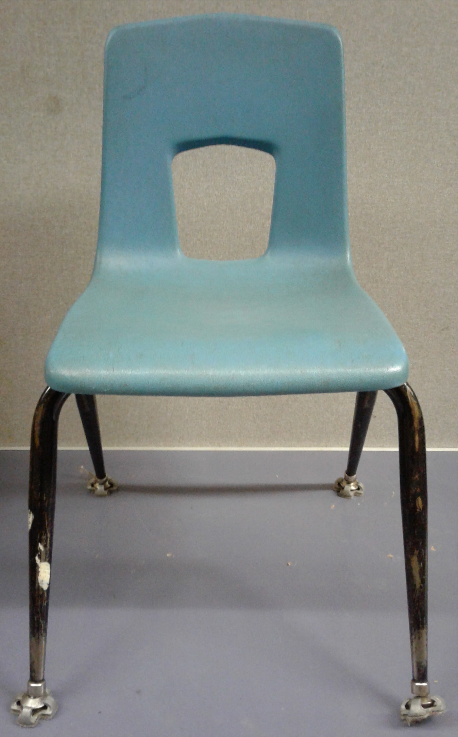 Light Blue Stacking Chairs