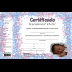 646fe47d9 Certificado de presentacion al Senor. Certificate of dedication to the Lord.